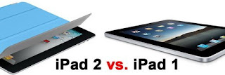 iPad 2 vs iPad 1 Specs Comparison Chart