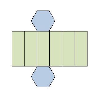 gambar jaring jaring prisma segienam