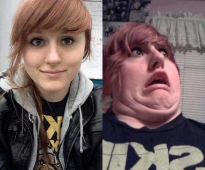 A expressão facial pode transformar completamente a aparência