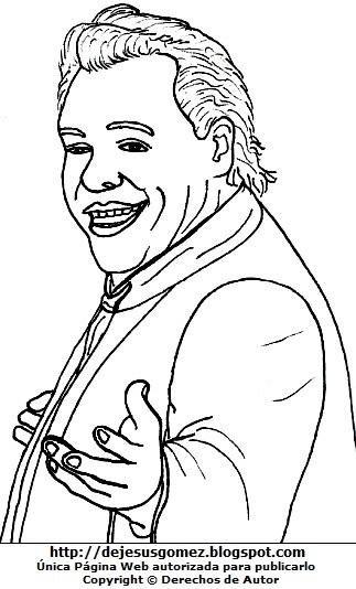 Dibujo de Juan Gabriel adulto para colorear pintar imprimir. Juan Gabriel hecho por Jesus Gómez