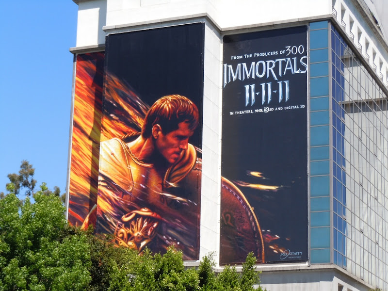 Immortals Henry Cavill billboard