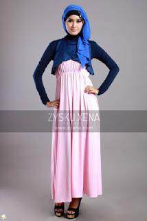 Dress Muslim Warna Pink