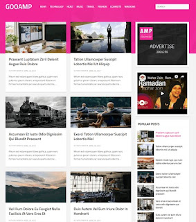30+ Adsense Friendly Free Fast Loading AMP Blogger Templates|