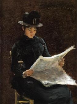 Подборка картин Дама за чтением газеты