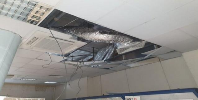 Κατέρρευσε μέρος της οροφής στο Κέντρο Ελέγχου Εναέριας Κυκλοφορίας στη Λευκωσία - Ένας τραυματίας