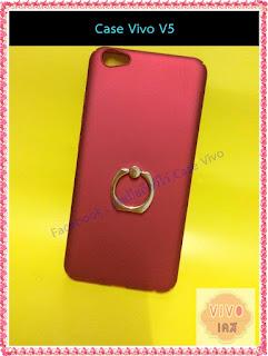 Case vivo V5 เคสสีแดง แข็ง มีแหวน