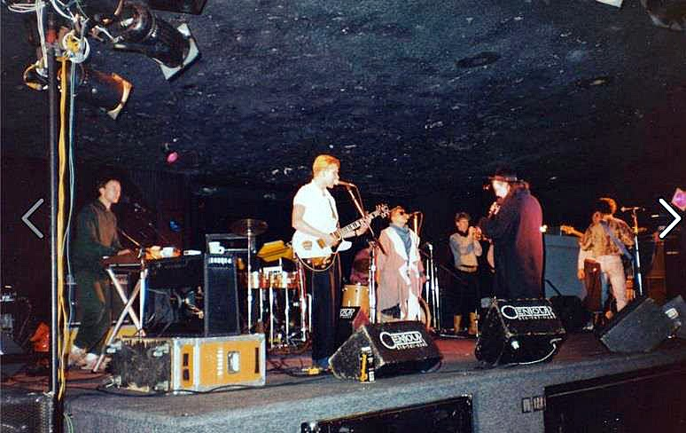 The Culture Club on stage at The Malibu Night Club in Lido Beach Long Island, New York 1983
