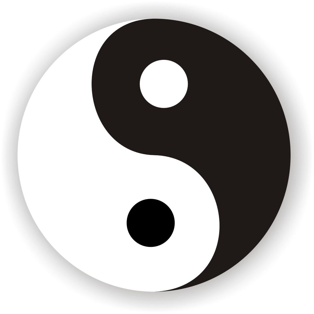 tutorial 7 langkah mudah membuat simbol yin yang dengan