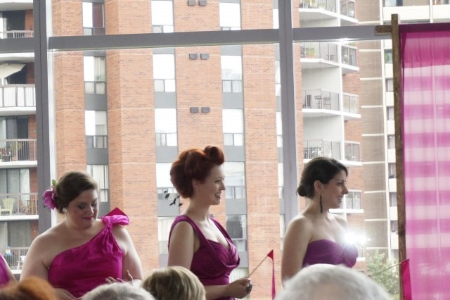 bridesmaids, fuchsia, Toronto, wedding
