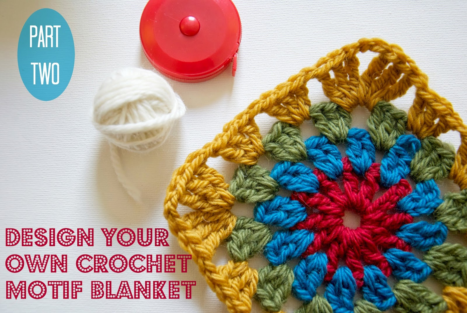 Step by step instructions for designing your own motif crochet blanket.
