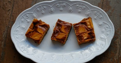 Pumpkin Cheesecake Bars with Salted Caramel Swirls