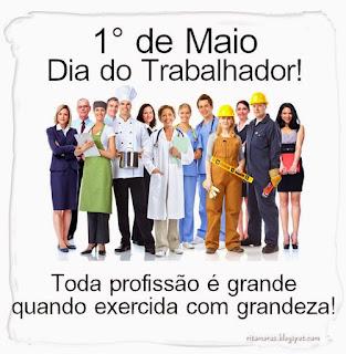 DIA 1º MAIO - PARABÉNS A VOCÊ TRABALHADOR E TRABALHADORA DE SANTANA DO CARIRI - PRESIDENTE LUCIENE SOARES
