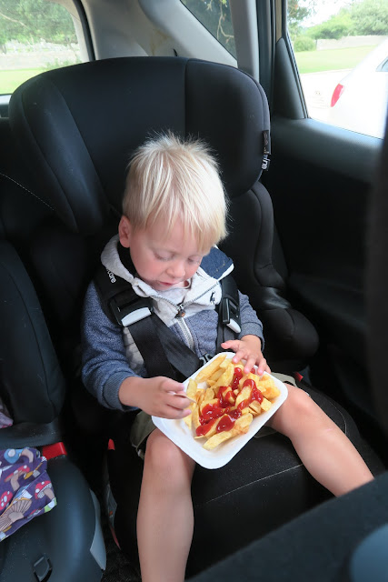 chips in the car