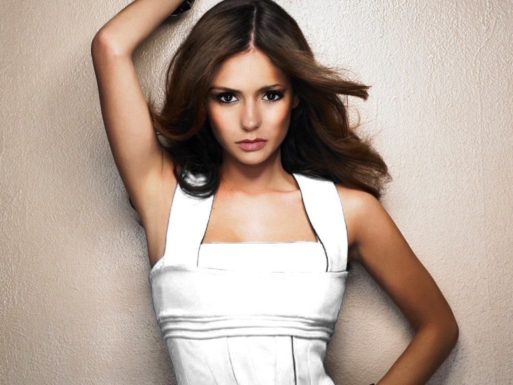 Allwalls Hot Canadian Actress And Model Nina Dobrev-4447