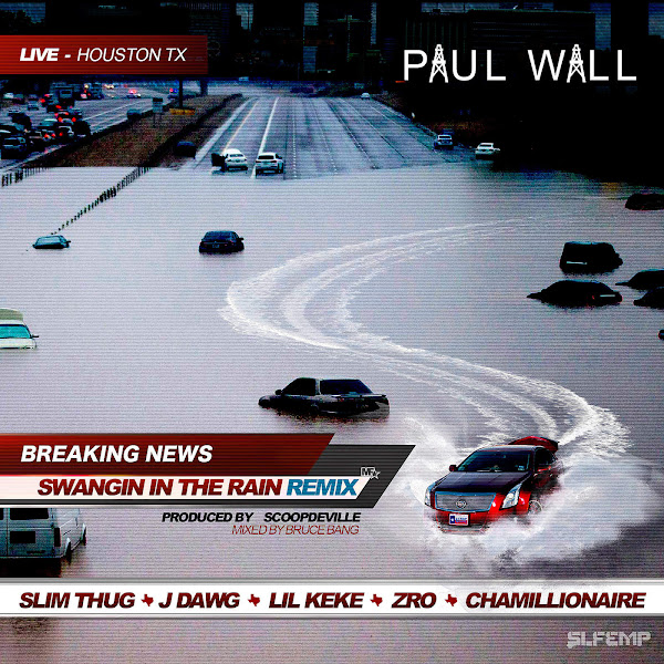 Paul Wall - Swangin in the Rain (Remix) [feat. Slim Thug, J-Dawg, Lil Keke, Z-Ro, & Chamillionaire] - Single Cover