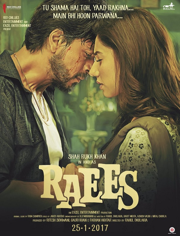 new bollywood movie, shah rukh khan, raees poster, raees movie review, mahira khan, nawazuddin siiddiqui, zaalima songs, king khan new movie, shah rukh khan as Raees