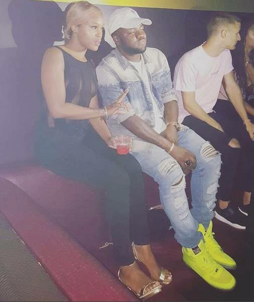 Skales hangs out with rapper Eve in Atlanta
