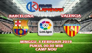 Prediksi Bola Barcelona vs Valencia 3 Februari 2019