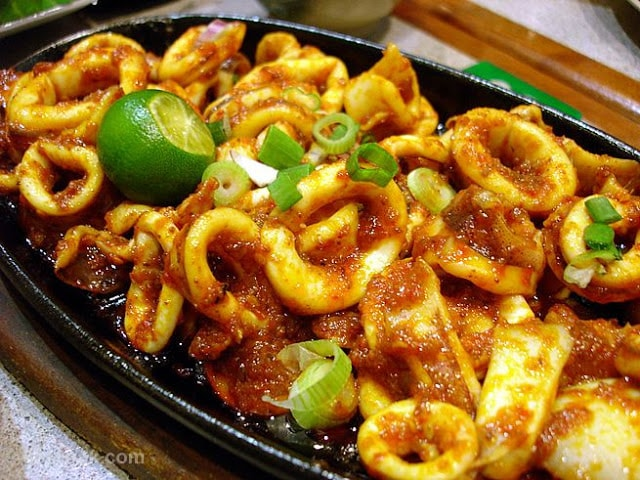 Sambal Sotong (Spicy Squid)