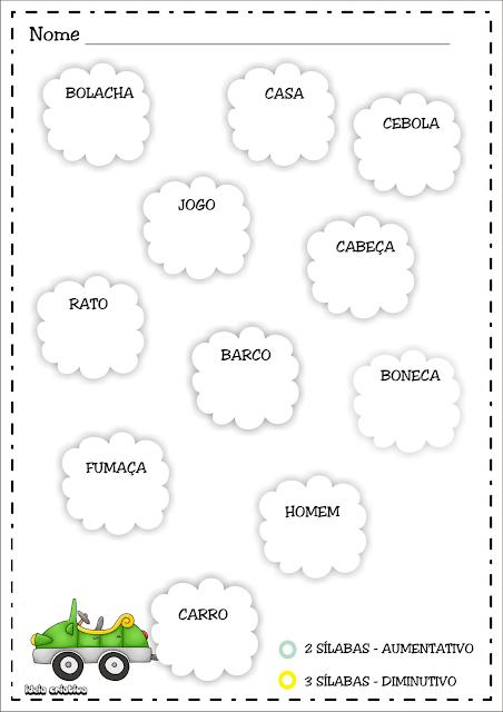 Atividade Classificação Silábica