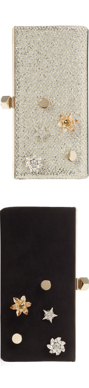 Jimmy Choo Jewelled Collection Celeste Buttons Clutches (sold separately)