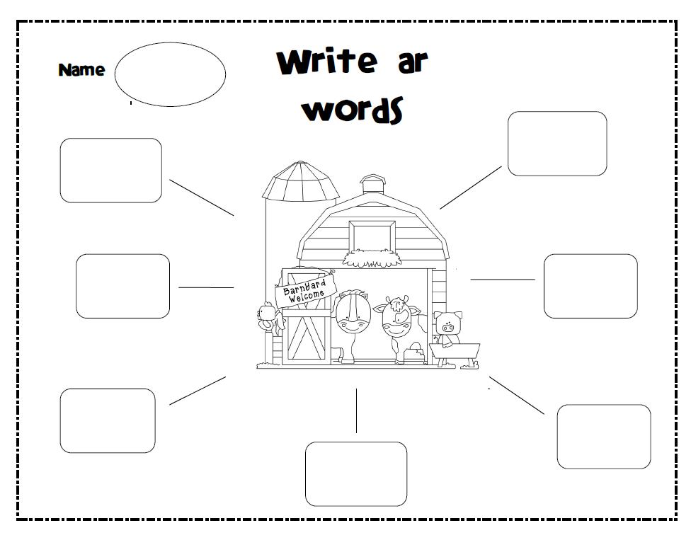 Ar Words. Worksheets. Kristawiltbank Free printable