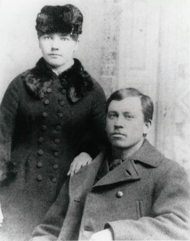 Laura Ingalls Wilder & Almanzo Wilder, winter 1885-86