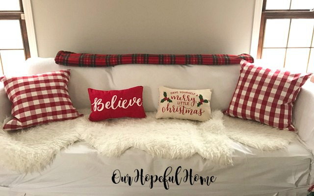 Believe pillow Have Yourself A Merry Little Christmas pillow Target placemat
