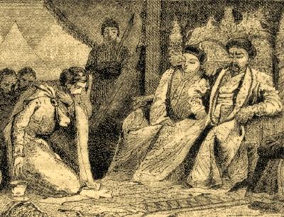 Александр Невкий и монгольский хан.