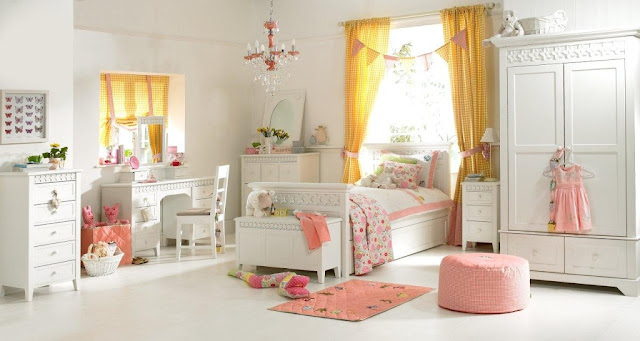 chambre fille blanche