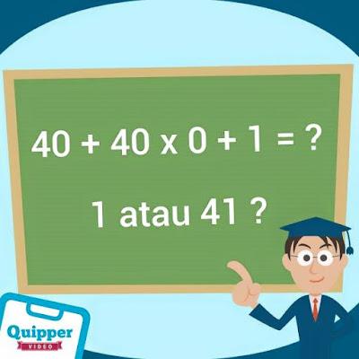 Urutan dalam Operasi Matematika