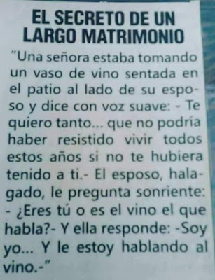 El secreto de un largo matrimonio