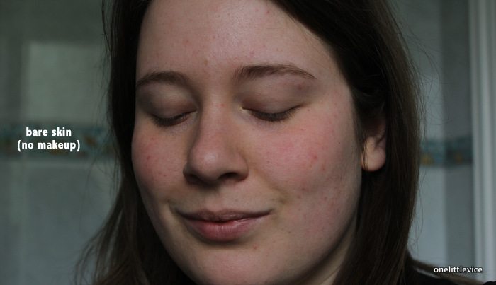 one little vice beauty blog: nourish face shimmer before