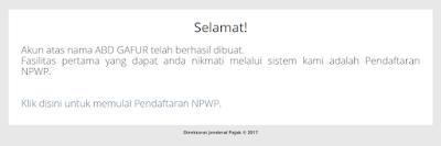 Cara Membuat Atau Mendaftar NPWP Via Online di Komputer dan Hp Lengkap Beserta Gambar