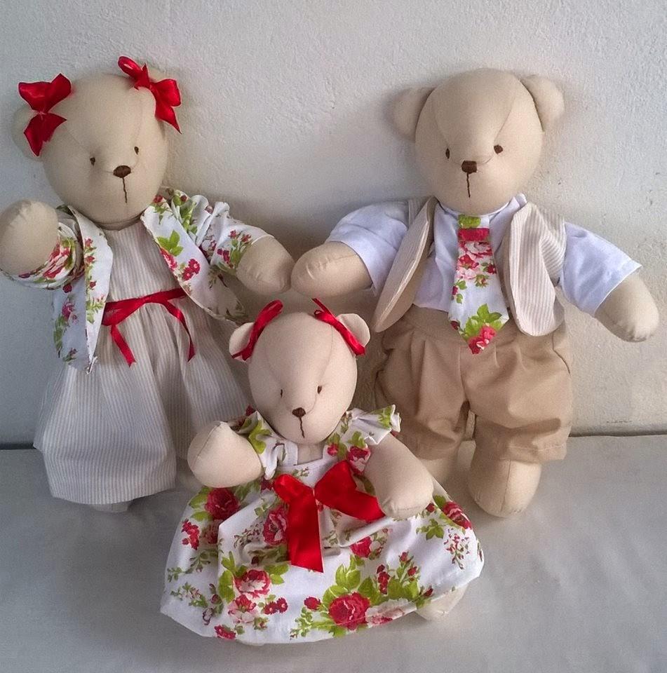 Ursinhos de Pano Lembracinhas e Decoração de quarto de bebê