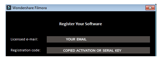 filmora activation key and email
