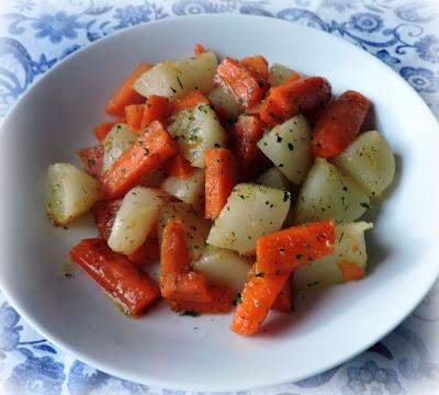 Honey Dill Glazed Turnips & Carrots