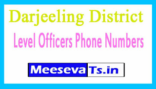 Darjeeling Phone Numbers/District Level Officers Mobile Numbers West Bengal
