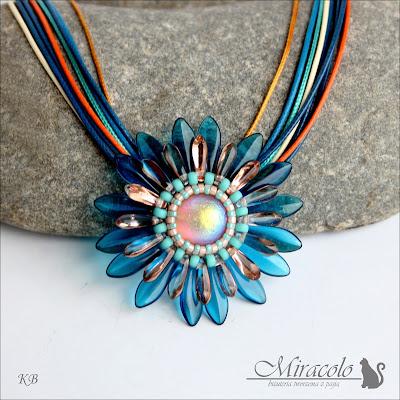 Miracolo, dagger beads, dagger pendant , dome beads