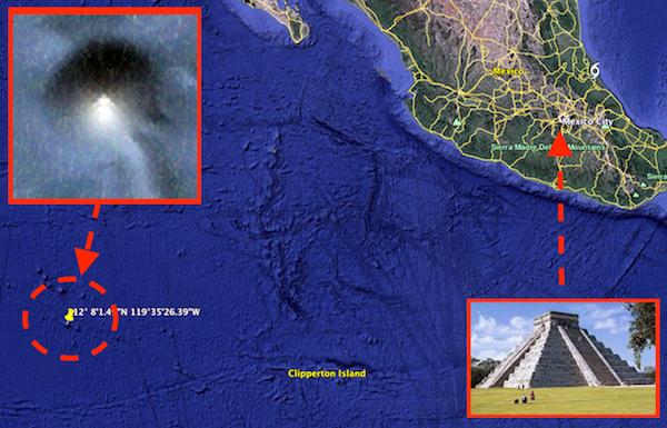 Ubicación de la posible «pirámide del Pacífico».