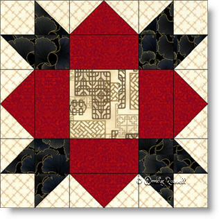 Weathervane quilt block image © Wendy Russell