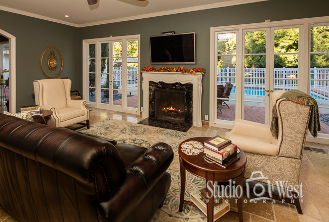 San Luis Obispo Elder Care  - Chateau Rose Living Room - Studio 101 West Photography