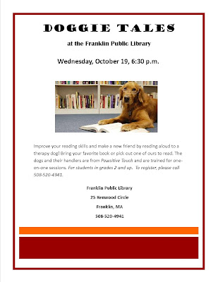 Doggie Tales returns to the Library on Wednesday, Oct 19