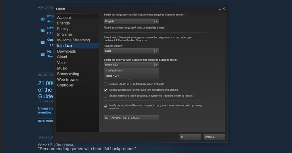 Cara Mengganti Tema di Steam Launcher