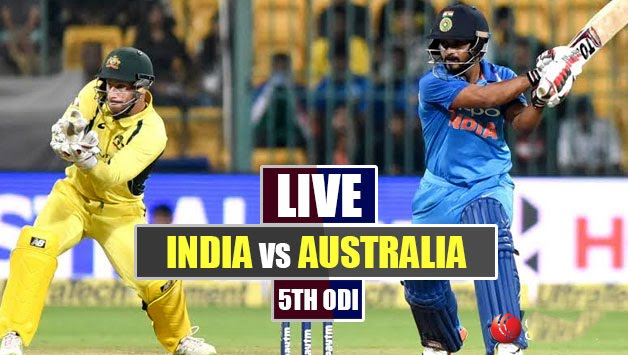 India vs Australia 5th ODI Live Online Streaming, Live Cric Score