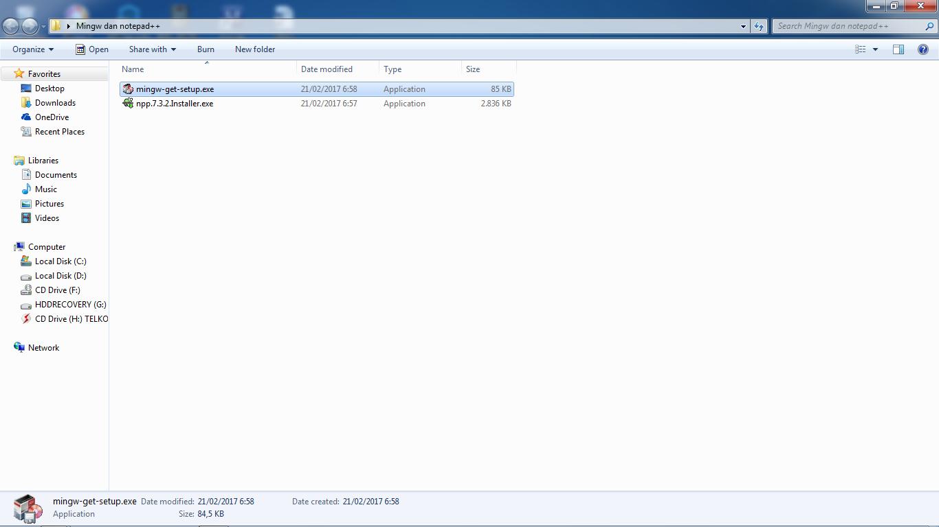 cara instal Mingw dengan MinGW installation Manager dan Notepad++