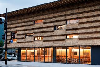Hotel en Yusuhara de Kengo Kuma