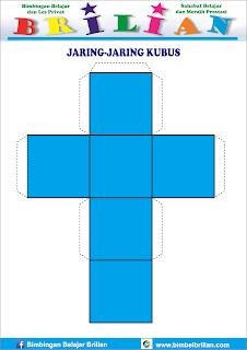 Gambar jaring-jaring bangun kubus