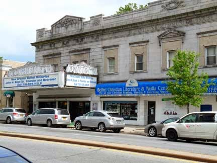 Beggar's Opera rock club once resided in the building with blue awning in Queens, New York