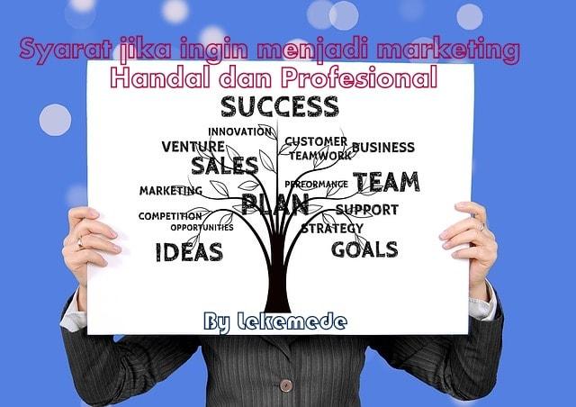Syarat Menjadi Marketing Handal dan Profesional